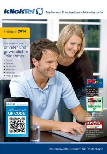 Verpackung von klickTel Telefonbuch und Branchenbuch inkl.Rückwärtssuche Frühjahr 2014 [PC-Software]