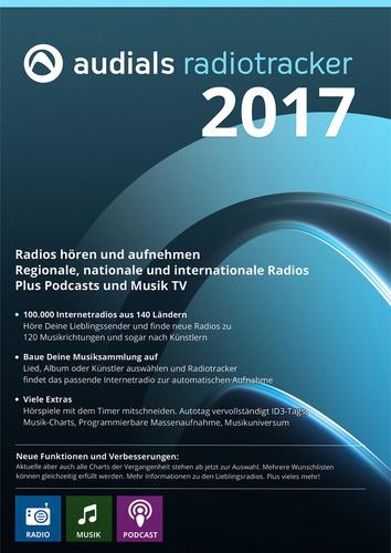 Verpackung von Audials Radiotracker 2017 [PC-Software]