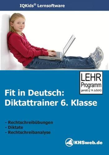 Verpackung von Fit in Deutsch - Diktattrainer - Klasse 6 [PC-Software]