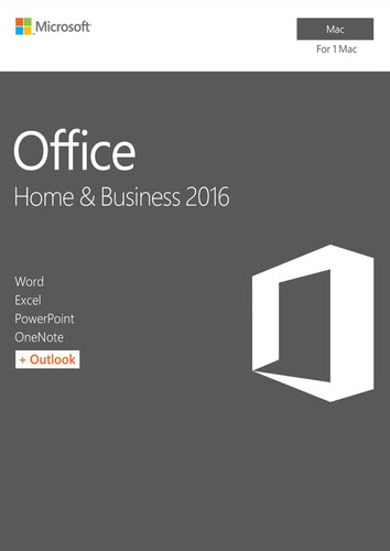 Packaging by Office Home and Business 2016 [Mac-software]