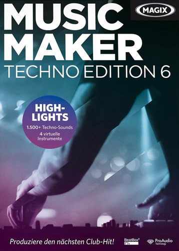Verpackung von Magix Music Maker Techno Edition 6 [PC-Software]