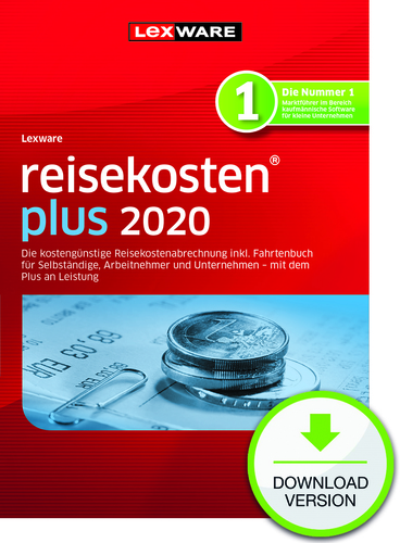 Lexware reisekosten 2020 plus – Jahresversion (365-Tage) (Download), PC