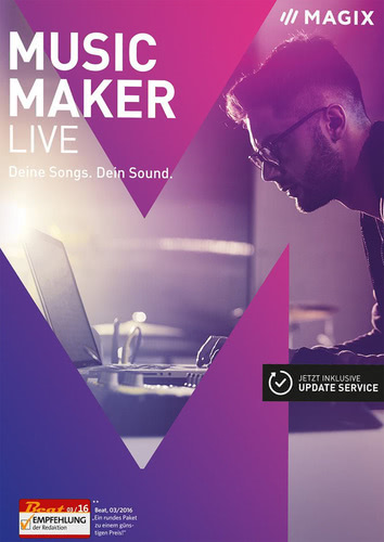 Verpackung von Magix Music Maker Live (2017) [PC-Software]