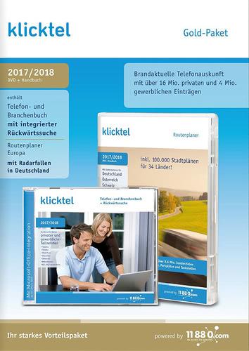 Verpackung von klickTel Gold-Paket 2017/2018 [PC-Software]