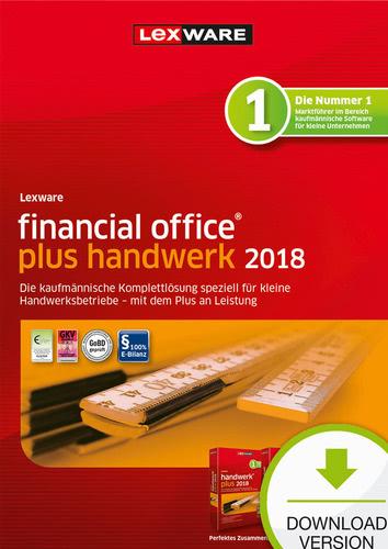 Verpackung von Lexware financial office plus handwerk 2018 Jahresversion (365-Tage) [PC-Software]