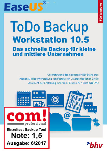 Verpackung von EaseUS ToDo Backup Workstation 10.5 [PC-Software]