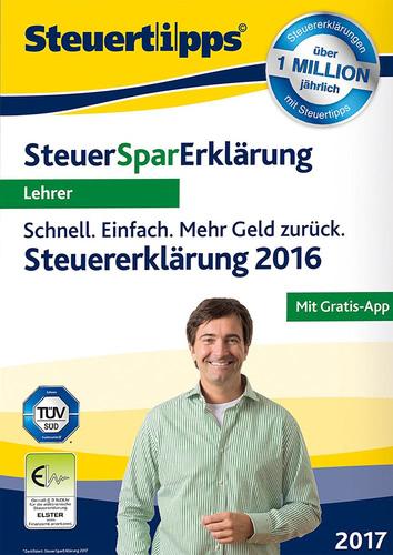SteuerSparErklärung Lehrer 2017, Box (PC)