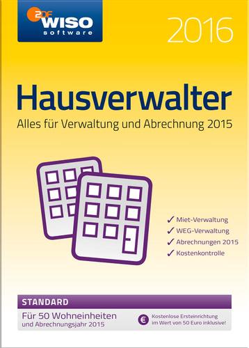 Verpackung von WISO Hausverwalter 2016 Standard [PC-Software]