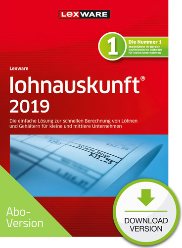 lohnauskunft netz 2019 Download – Abo Version (Download), PC
