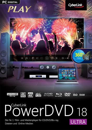Verpackung von CyberLink PowerDVD 18 Ultra [PC-Software]