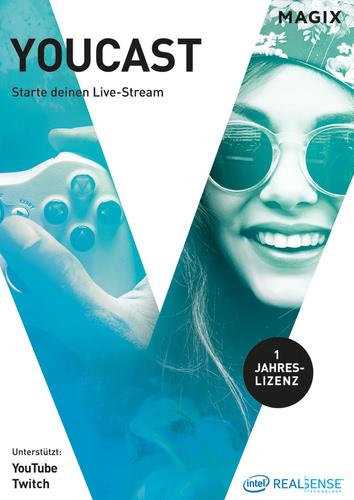 Verpackung von Magix Youcast - Starte deinen Live-Stream [PC-Software]