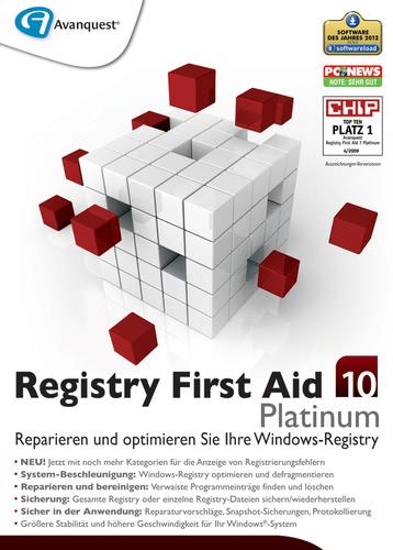 Verpackung von Registry First Aid 10 Platinum [PC-Software]