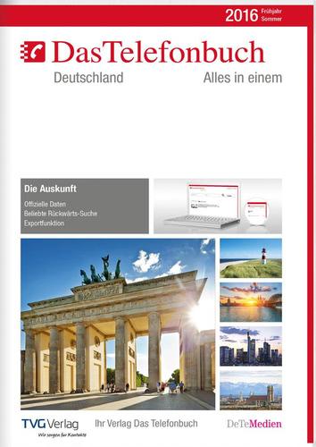 Verpackung von Das Telefonbuch. Deutschland Frühjahr/Sommer 2016 [PC-Software]
