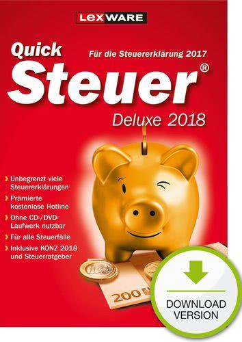 Verpackung von Lexware QuickSteuer Deluxe 2018 (für Steuerjahr 2017) [PC-Software]