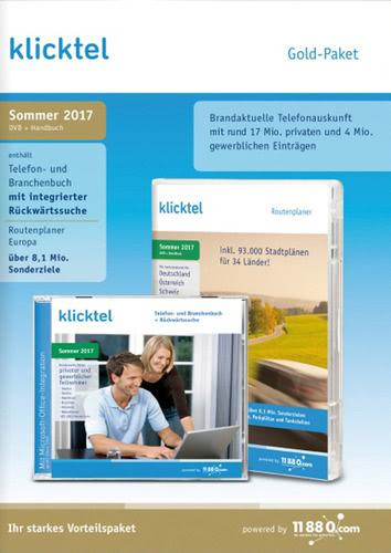 Verpackung von klickTel Gold-Paket Sommer 2017 [PC-Software]