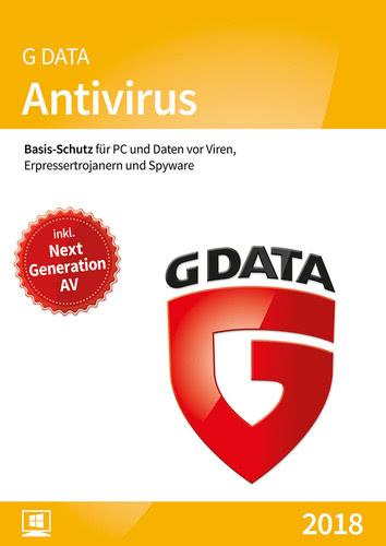 Verpackung von G Data AntiVirus 2018 - 1 Benutzer - 12 Monate [PC-Software]