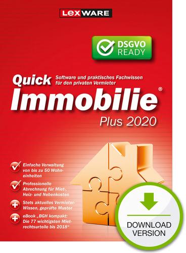 Verpackung von Lexware QuickImmobilie Plus 2020 [PC-Software]