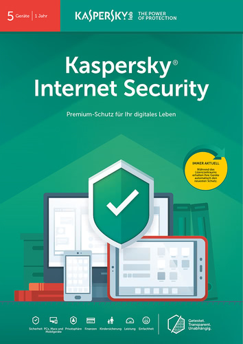 Verpackung von Kaspersky Internet Security (2019)  - 5 Geräte / 12 Monate [MULTIPLATFORM]