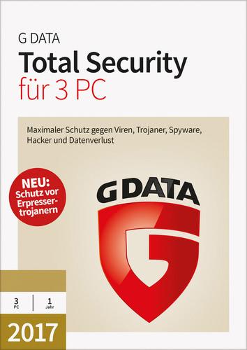 Verpackung von G Data Total Security 2017 - 3 Benutzer - 12 Monate [PC-Software]