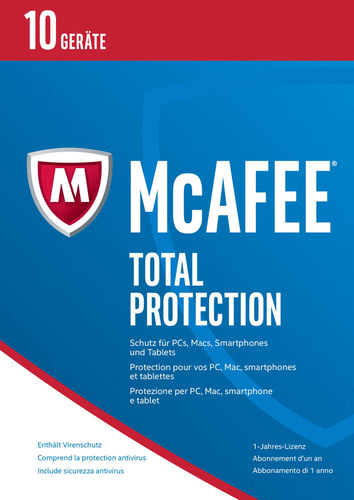 McAfee Total Protection 2017 10 Geräte / 12 Mon...