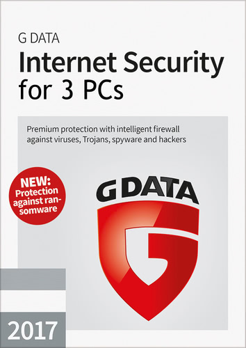 Packaging by G Data Internet Security 2017 - 3 User - 12 Months [PC-software]