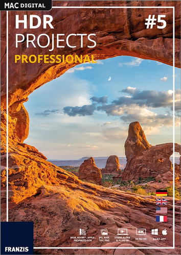 Verpackung von Franzis HDR projects 5 professional [Mac-Software]