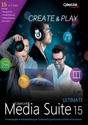 Verpackung von CyberLink Media Suite 15 Ultimate [PC-Software]