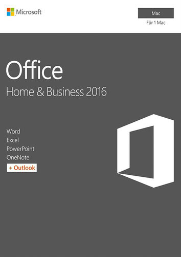 Verpackung von Microsoft Office Home and Business 2016 für Mac [Mac-Software]