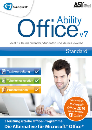Verpackung von Ability Office 7 [PC-Software]