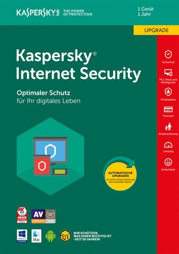 Verpackung von Kaspersky Internet Security - 1 Gerät / 12 Monate Upgrade [MULTIPLATFORM]