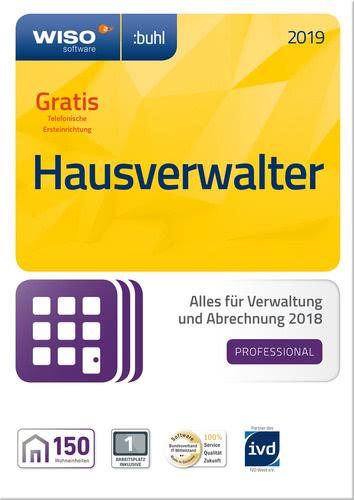 Verpackung von WISO Hausverwalter 2019 Professional [PC-Software]