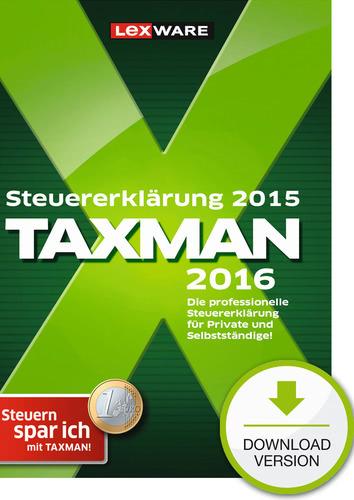 Verpackung von TAXMAN 2016 (für Steuerjahr 2015) [PC-Software]