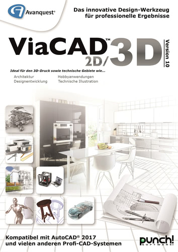 Verpackung von Avanquest ViaCAD 2D/3D Version 10 (Windows) [PC-Software]