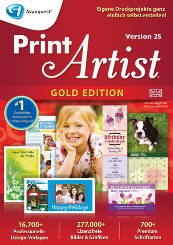 Print Artist Gold 25 (Englisch) (Download), PC