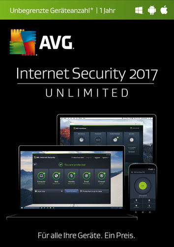 AVG Internet Security 2017 Unlimited 1 User / 12 Monate