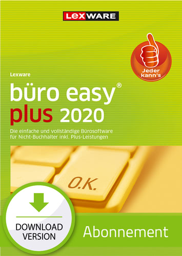 Verpackung von Lexware büro easy 2020 plus - Abo Version [PC-Software]