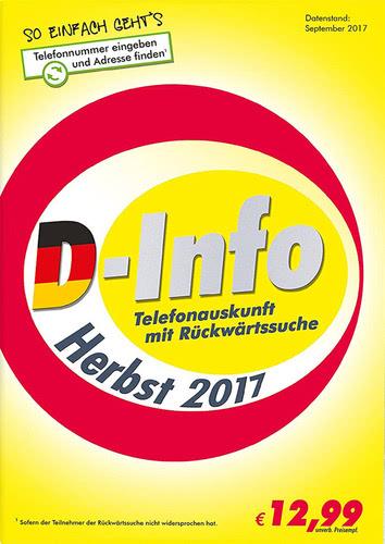 Verpackung von D-Info mit Rückwärtssuche Herbst 2017 [PC-Software]