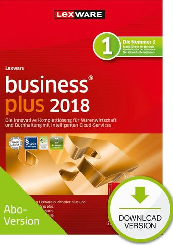 Verpackung von Lexware business plus 2018 Download - Abo Version [PC-Software]