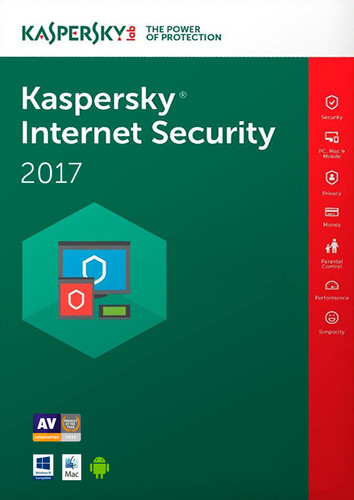 Packaging by Kaspersky Internet Security 2017 - 5 Devices / 12 Months (EU license) [PC-software]