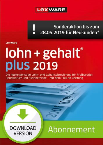 lohn+gehalt Plus 2019 Abonnement (Aktionspreis) (Download), PC