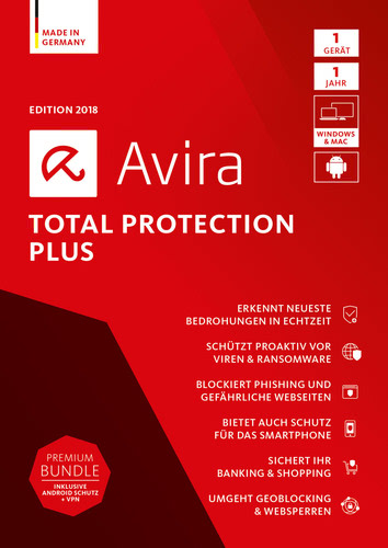 Avira Total Protection Plus 2018 1 Geräte / 12 Monate