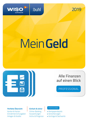 Verpackung von WISO Mein Geld Professional 2019 [PC-Software]