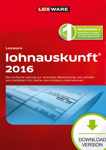 Verpackung von Lexware lohnauskunft netz 2016 [PC-Software]