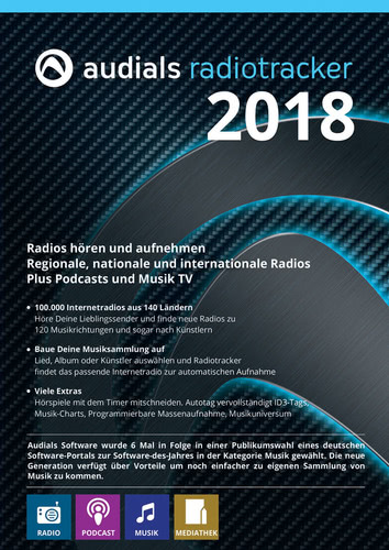 Verpackung von Audials Radiotracker 2018 [PC-Software]