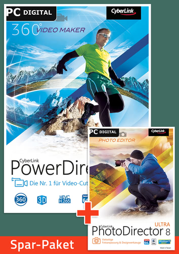 Verpackung von CyberLink PhotoDirector 8 Ultra + PowerDirector 15 Ultra Bundle [PC-Software]