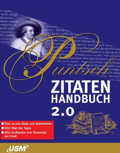 Verpackung von Puntsch Zitatenhandbuch 2.0 [PC-Software]