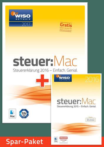 Verpackung von Sparpaket: WISO steuer:MAC 2017 (für die Steuerklärung 2016) + WISO steuer:MAC 2016 (für die Steuererklärung 2015) [Mac-Software]