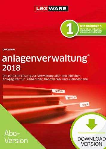 Verpackung von Lexware anlagenverwaltung 2018 - Abo-Version [PC-Software]