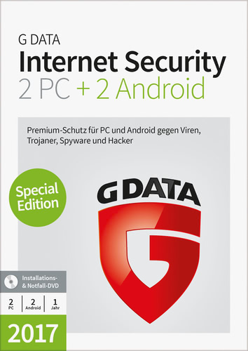 G Data Internet Security 2017 2+2 - 1 User - 12...