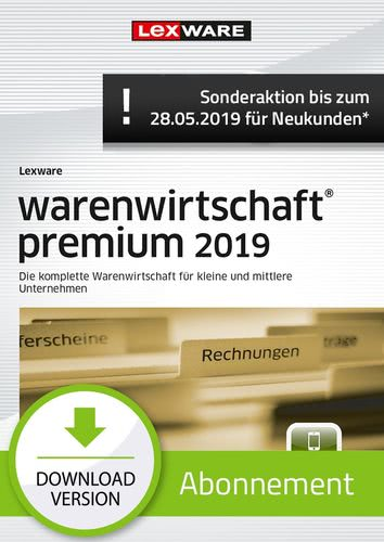warenwirtschaft premium 2019 Abonnement (Aktionspreis) (Download), PC